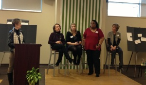 Esther on the Panel at the Women's Theology Conference...clearly in thought (: