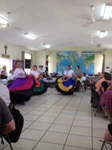 During our first week of school, our teachers demonstrated the traditional folk dance of Costa Rica!