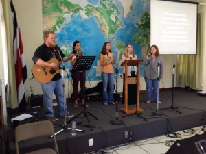 Bianca has joined the Language Institute's Worship Team.