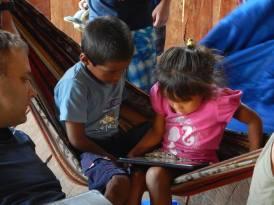 Esteban and Valeria watching a movie!