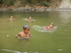 Embers kids swimming before we left