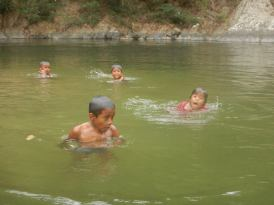 Embers kids swimming before we left