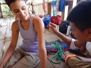 "Rafael giving Bianca a ""Tatoo"""